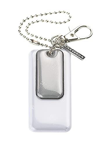 Lasessor Reflektor, Halsbandschmuck, Lauf- und Wander Accessoire - Schutzengel für unterwegs, Anhänger in Geschenkbox verpackt - 3M Scotchlite Material, grau, EN17353