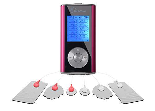 TechCare Mini Tens Unit Machine 10 Massage Modes Rechargeable Muscle Stimulator