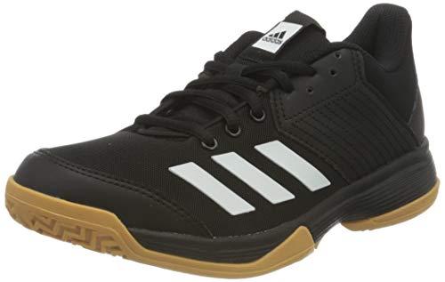 adidas Ligra 6 Youth, Chaussures de Volleyball Garçon Mixte Enfant, Noir Blanc Gomme, 34 EU