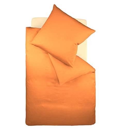 fleuresse Interlock-Jersey-Bettwäsche Colours orange 2044 Größe: 135 x 200 cm