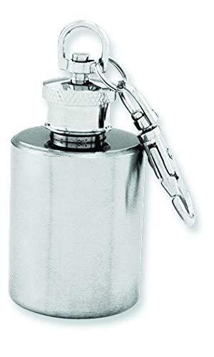 Diamond2Deal Spazzolato Rotonda in Acciaio Inossidabile Mini Key Chain Flask