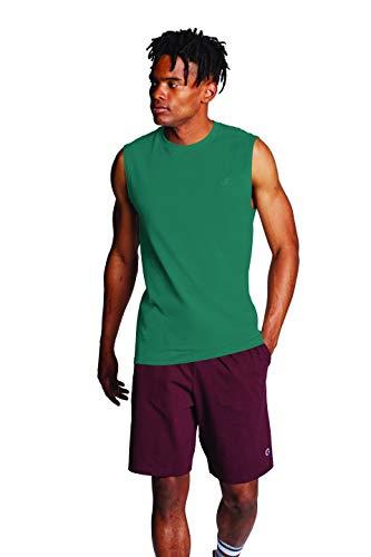 Champion Classic Jersey Muscle T-Shirt Camiseta, Verde Fuera de la Rejilla, XXL para Hombre