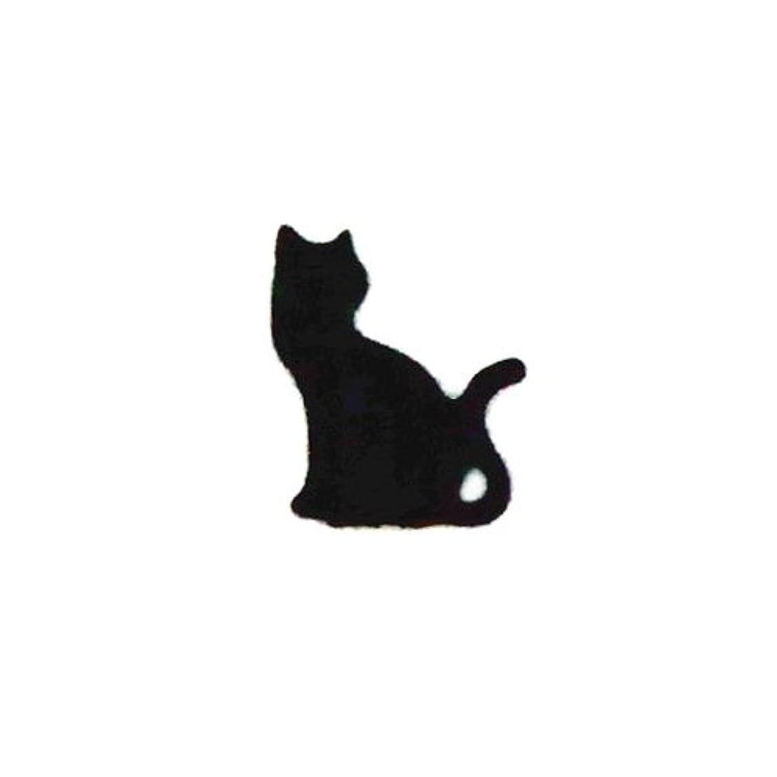 幾何学担当者ウイルスリトルプリティー ネイルアートパーツ 猫3 ブラック 10個