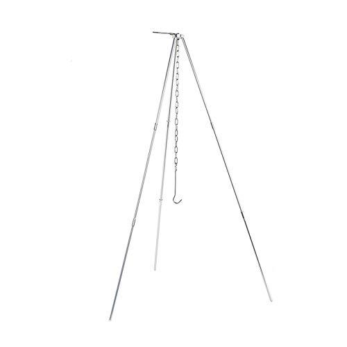BrilliantDay 80cm Tripod Grill/BBQ Dreibeingestell für das Aufhängen eines Topfs mit Kette und Haken - schwarz inkl. komfortabler Tragetasche