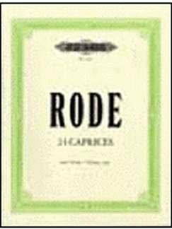 24 CAPRICEN - arrangiert für Violine [Noten / Sheetmusic] Komponist: RODE PIERRE