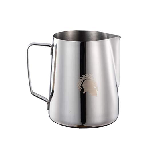 Barista Legends Latte Art melkkannetje Kronos zilver 600ml professionele kan roestvrij staal melkkan om op te schuimen voor perfect melkschuim roestvrij, eenvoudig te reinigen en geschikt voor de vaatwasser (600 ml)