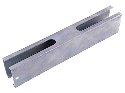 Pfostenverlängerung für 60x40mm Standard Zaunpfosten in feuerverzinkt, Länge ca. 250mm, Zaunerhöhung, Aufsatz