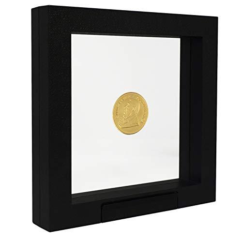 SAFE 4502 Schweberahmen schwarz 13x13 cm - Münzrahmen - Objektrahmen - Münzständer 3D Rahmen für Deine Münzen