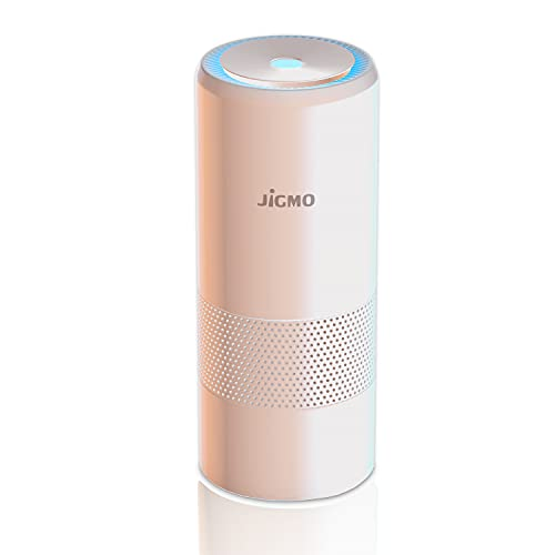JiGMO Portable Air Purifier – Air Ioniser – Mini USB Car Air Purifier with HEPA Filter – Protects From Dust PM2.5 Allergens Pet Dander Odours Smoke - Small Room Office