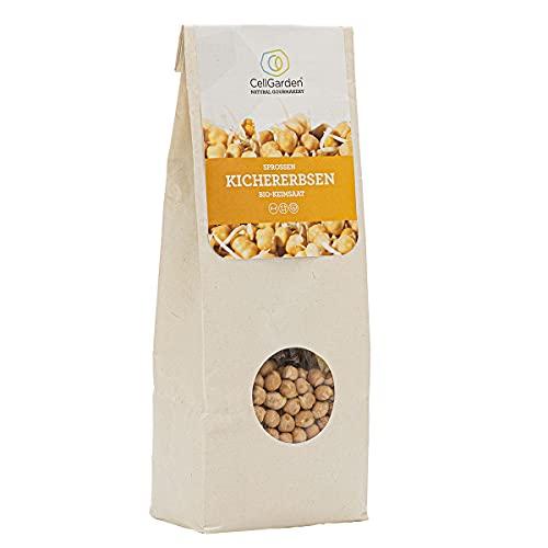 Cell Garden® Kichererbsen Samen Bio | 500 g – Kichererbsen Sprossen Samen für Sprossen und Microgreens mit hoher Keimfähigkeit - 100{cec937d7fb74160ed896fb394aebdc76874c3baa2cf628899d5a27623067dce0} Laborgeprüfte BIO-Qualität – mit Keimanleitung