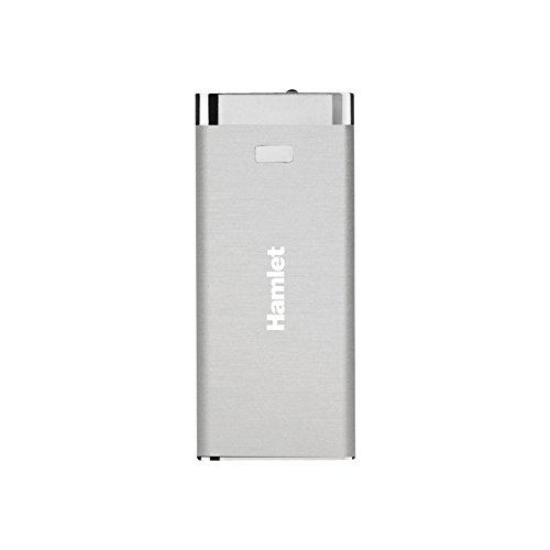 Hamlet XPW450BSV batería externa Plata Ión de litio 4500 mAh - Baterías externas (Plata, Teléfono móvil/smartphone, Tablet, MP3/MP4, GPS, Lector de libros electrónicos, Apple iPhone 4/5 Apple iPad, Ión de litio, 4500 mAh, USB)
