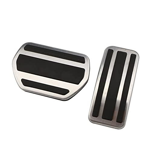 SSXPNJALQ Pedales DE CUCHO Pedal Pedal Placa FIT FOR Peugeot 2008 2015 A 2018 207 CC SW GTI RC 208 GTI 308CC 301 Citroen C4L C4 C3-XR (Color Name : 2Pcs AT)