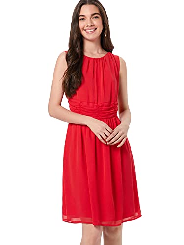 s.Oliver 05.904.82.8040 Vestito Elegante, Rosso (Red 3349), 48 Donna