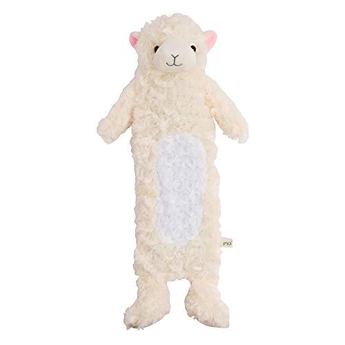 Bolsa de agua caliente para niños de 0,9 litros con una hermosa manta de piel sintética, una botella de goma natural para la cama, una almohadilla térmica - probado por TÜV Rheinland (Alpaca)