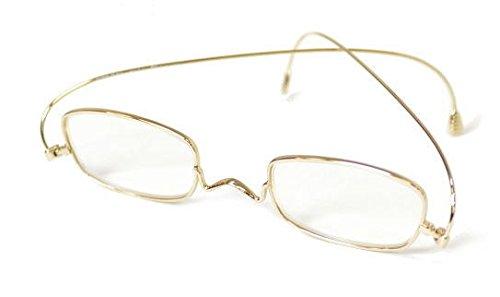 度数 弱+ 2.0(50〜58歳) ゴールド(スクエア) PAPER GLASS(ペーパーグラス) 折りたたみ老眼鏡 [フレームタイプ:スクエアー]