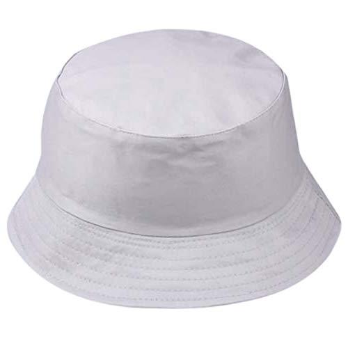 Chapeau De Soleil Femmes Hommes Unisexe Chapeau De Pêcheur Mode Sauvage De Protection De Soleil Cap En Plein Air 2020 De Mode De Seau Casquettes De Pêche Chapeau Taille unique gris