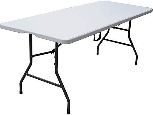 6 Foot Centerfold Folding Table, White