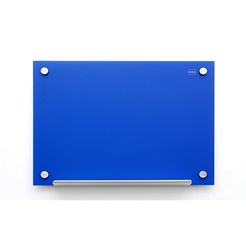Nobo Diamond - Pizarra magnética de cristal, vidrio, 600 x 900 mm, color azul