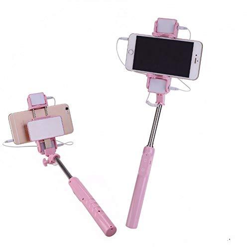 LSDRHTJ 22-87CM Extensible con Cable Selfie Stick con luz de Relleno 900...