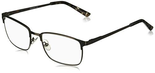 Foster Grant Men's Braydon Multifocus Glasses 1018252-100.COM Rectangular Reading Glasses, Gunmetal, 1