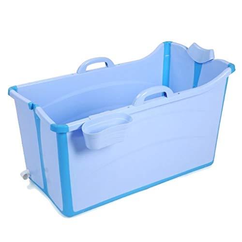 Vasca da bagno pieghevole vasca portatile I bambini pieghevole vasca da bagno, Vasca da bagno pieghevole in plastica portatile vasca idromassaggio di isolamento con il coperchio Spesso doccia a secchi