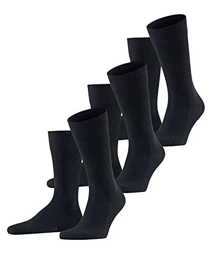 FALKE Herren Family 3-Pack M SO Socken, Blau (Dark Navy 6370), 43-46 (UK 8.5-11 Ι US 9.5-12) (3er Pack)