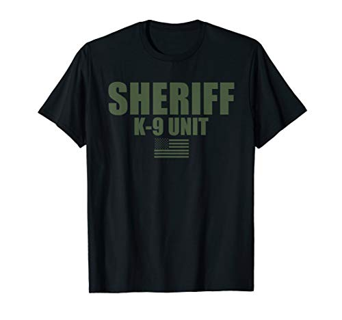 Sheriff K-9 Unit Police Flag Uniform T-Shirt