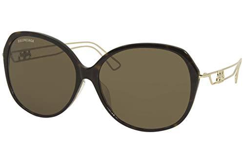 Balenciaga BB0058SK 002 Havana Gold Brown - Gafas de sol