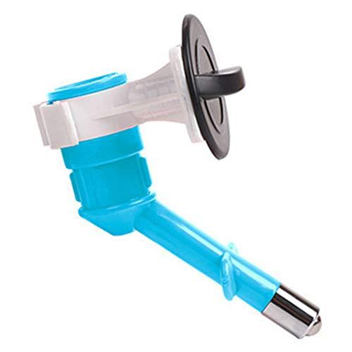 comeslele Usefor for Pet Dog Cat Auto Hanging Water Feeder Bottle Dispenser Drinking Fountain Head - Light Blue