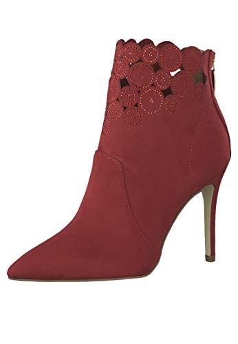 Tamaris 1-25709-31 Damen High Heel Stiefelette Stiefel Stiletto, Schuhgröße:40 EU, Farbe:Rot