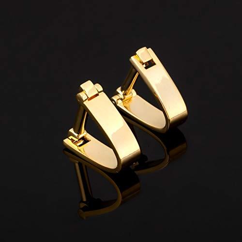 jiao Fashion Edelstahl Gold Manschettenknopf Für Herren Shirt Markenanzug Manschettenknöpfe Manschettenknöpfe Schmuck