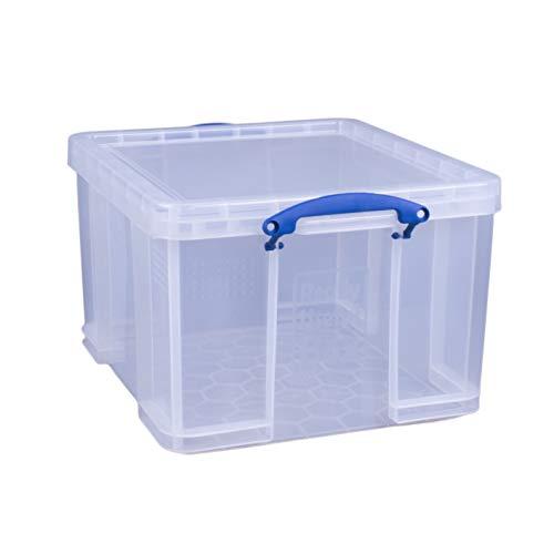 Really Useful Réf 42L Boîte à archives solide et légère Plastique Superposable 42 litres Transparent 440 x 520 x 310 mm (Import Royaume Uni)