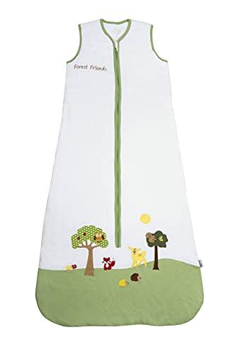 Schlummersack babyslaapzak voor de zomer ongevoerd in 0.5 Tog - Forest Friends - 6-18 maanden / 90 cm