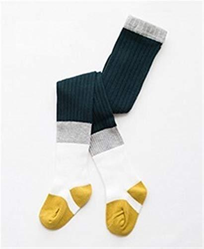 GLBS Motif Stripe Enfant Fille Bébé Collants Coton Belle Garder Au Chaud Nouveau-né Collants Confortable Leggings Bébé Tricot for Âge 1-7 Ans (Color : Green, Size : 1-3 Years)