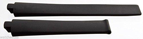 TAG Heuer Kirium Mujeres Correa de Caucho de Color Negro de la Banda de 17mm x 8mm x 14mm