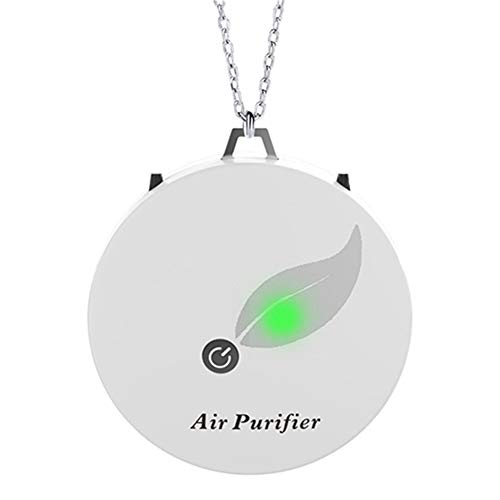 Great Price! YUIOP Necklace Air Purifier, Portable Wearable Necklace Negative Ion Air Freshener Removing Car Deodorization Space Clear Odor