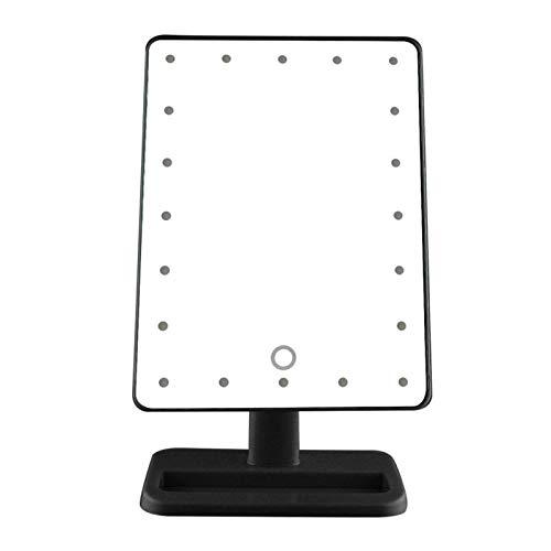 SSBH Espejo de maquillaje portátil con luz LED para maquillaje, compacto y portátil, color verde