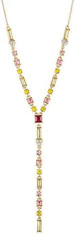 RACHEL Rachel Roy Multi color Stone Crystals Y Shaped Long Chain Necklace for Women Fashion product image