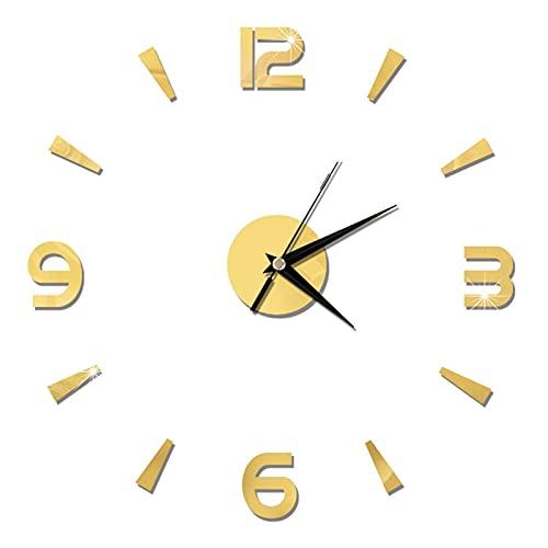 LUJIAN Reloj De Pared Moderno Asequible 3D Reloj De Pared DIY Acrílico Espejo Pegatinas Relojes Relojes Europa Horloge Sala De Estar Decoración del Hogar Art Decal Reloj De Pared