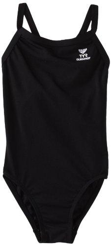 TYR Sport Damen Solid Durafast Diamondback Badeanzug, Damen, schwarz, 34