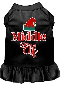 Tampa Mall Mirage Pet Product Middle Elf Screen Dress 35% OFF Med Black Dog Print