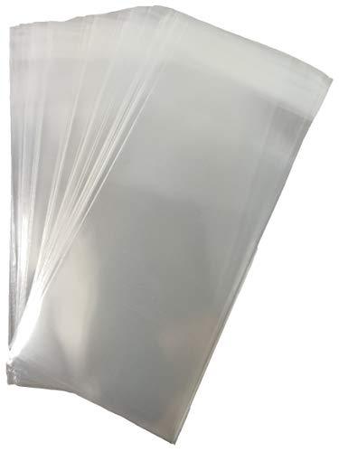200 bolsas transparentes con cierre hermético de 6 x 10 + 3 cm con solapa adhesiva para bomboneras.