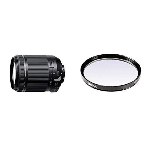 Tamron AF 18-200 mm F/3.5-6.3 XR Di II VC - Objetivo para cámara Nikon (Distancia Focal 18-200mm, Apertura f/3.5-6.3) Negro + Hama 070062 - Filtro Ultravioleta, Color Neutro, 62 mm