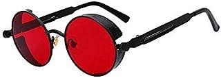 Round Metal Sunglasses Steampunk Men Women Fashion Glasses Brand Designer Retro Vintage Sunglasses UV400 - 2724648507544
