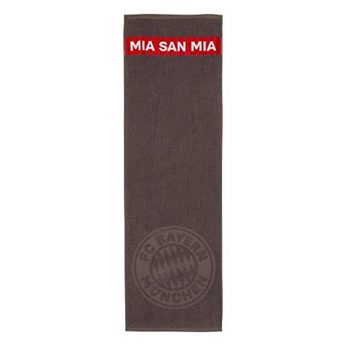 FC Bayern München Mia San Mia Sporthandtuch Handtuch (one Size, grau)