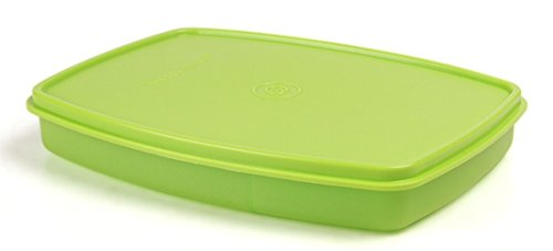 Tupperware Classic Slim Plastic Lunch Box, Lettuce Leaf