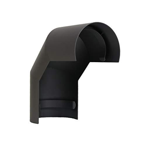 LANZZAS Rauchrohr Ofenrohr Kaminrohr Hitzeschutzschild für Bogen 90° oberhalb Ø 120 mm grau
