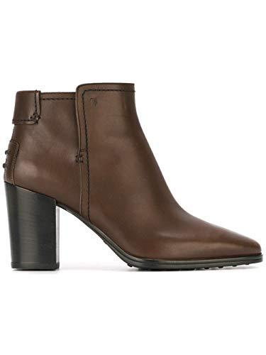 Tod's Luxury Fashion Damen XXW0ZU0R770D90S800 Braun Leder Stiefeletten | Jahreszeit Permanent