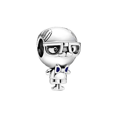 Silver Little Boy & amp;Charm de niña en forma de pulsera y brazalete original de 3 mm Fabricación de joyería de moda DIY para mujeres, CMS1622