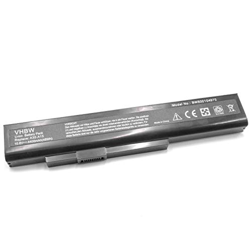 vhbw Li-Ion Akku wie A42-A15 für Medion Akoya E6228 E6234 E7201 E7219 E7220 E7221 E7222 MD99040 P6631 P6634 P7816 Laptop Notebook - (4400mAh, 10.8V)